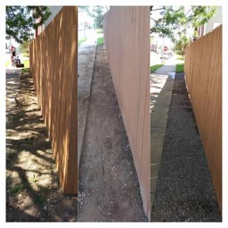 Iowa Lake Gravel installation